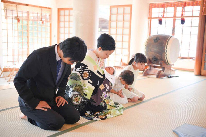 勝田神社お宮参りの写真